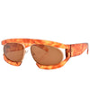 WEEZIE Demi/Brown Fashion-Forward Sunglasses