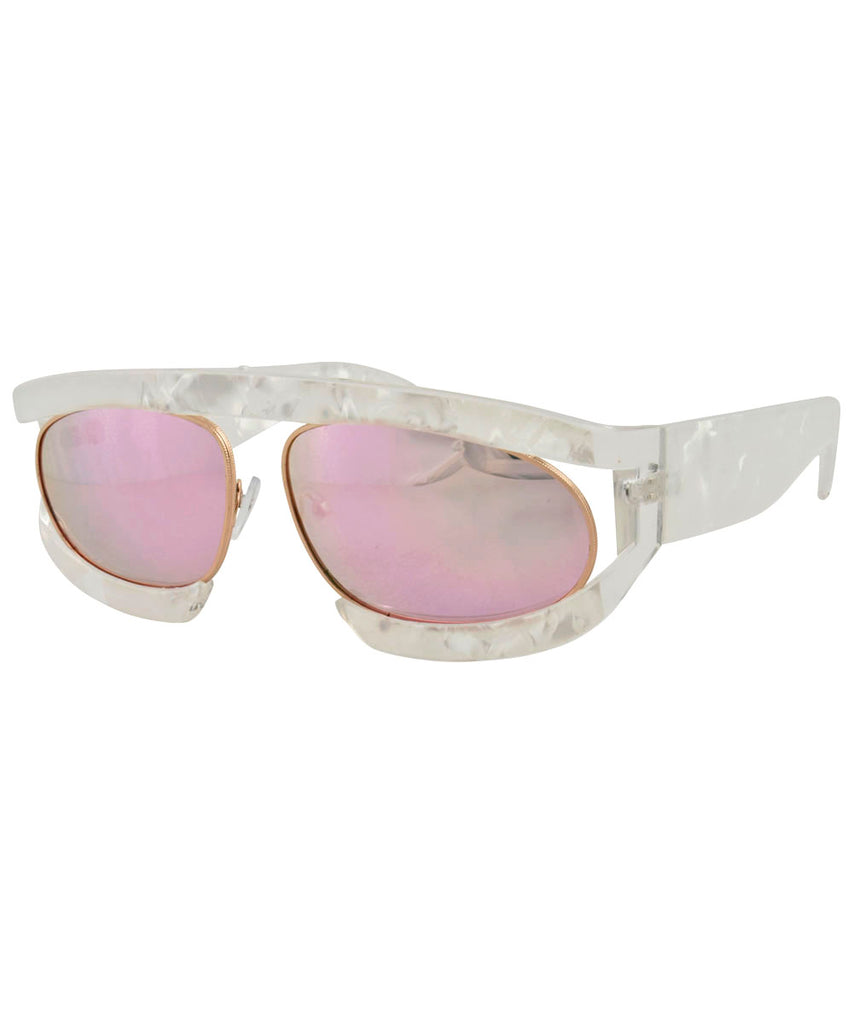 WEEZIE Pearl Fashion-Forward Sunglasses