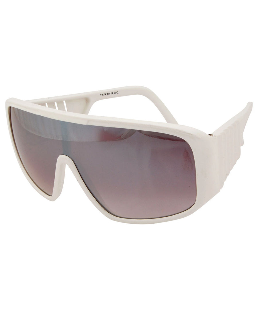 weiner white sunglasses