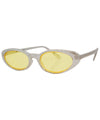 what silver yellow sunglasses
