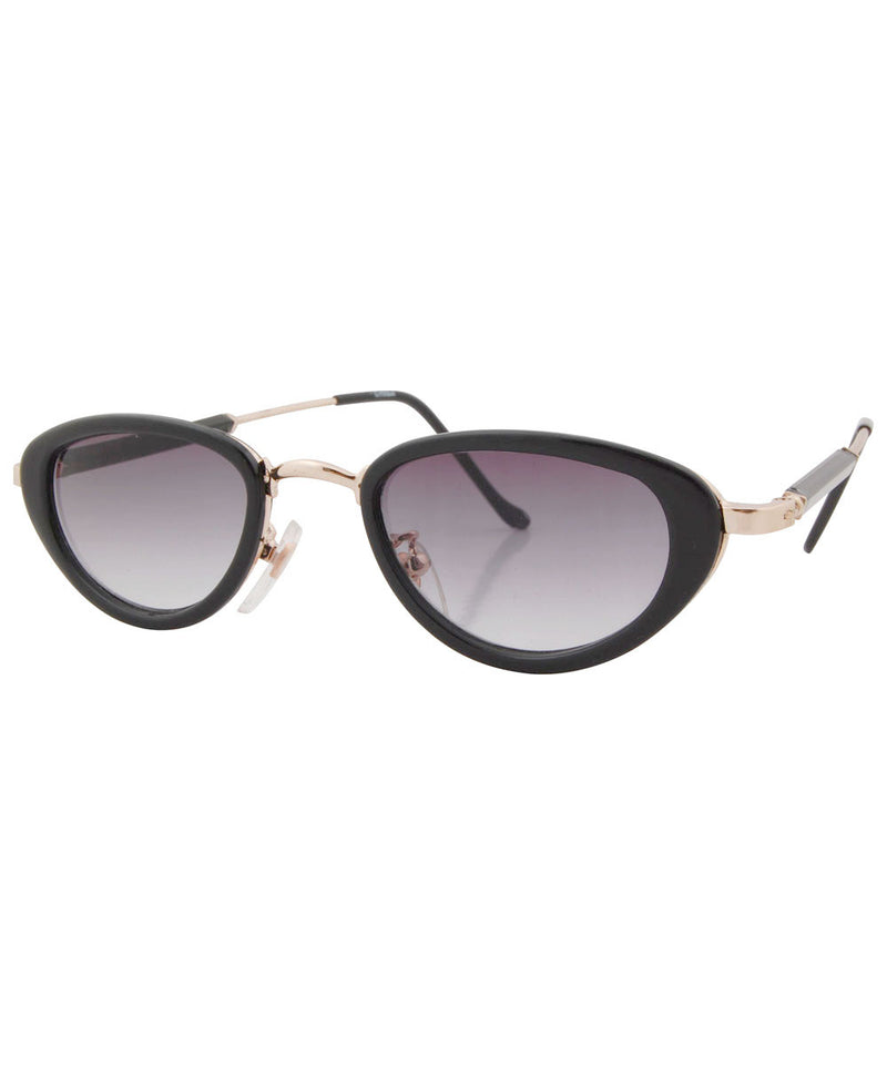 wilde black gold sunglasses
