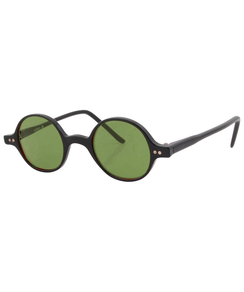 will black green sunglasses