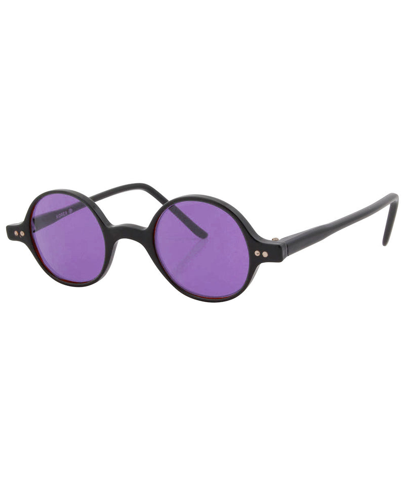 will black purple sunglasses