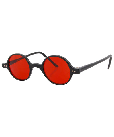 will black red sunglasses