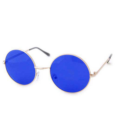 wonderland blue gold sunglasses