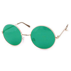 wonderland green gold sunglasses