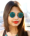 wonderland teal sunglasses