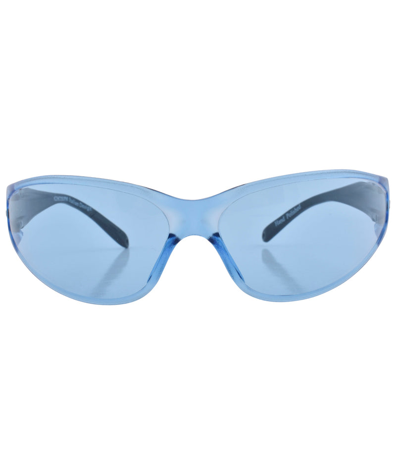 work it blue sunglasses