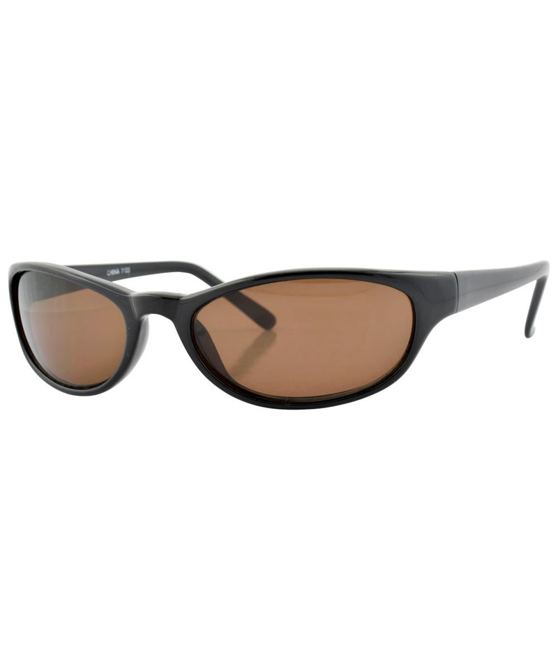 wrapped black brown sunglasses