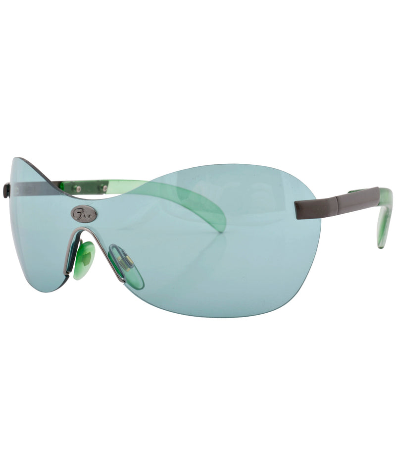 yesbian green sunglasses