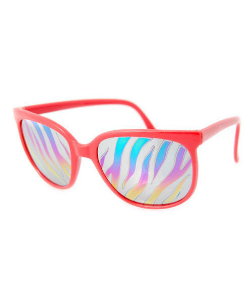 zebra nc red sunglasses
