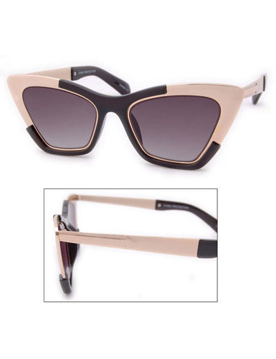 zelda black gold sunglasses