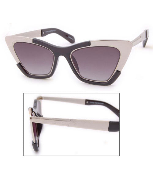 zelda black silver sunglasses