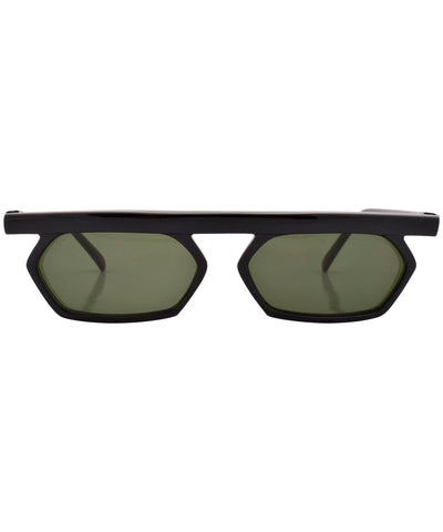 zoobie black green sunglasses