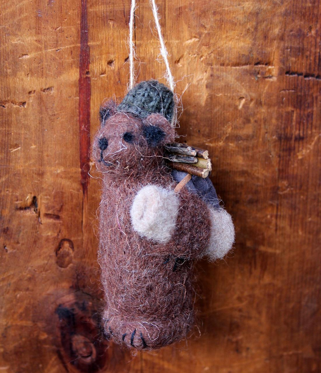 Backpacking Bear Ornament