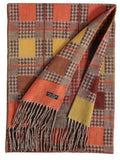 Square Houndstooth Scarf - Orange