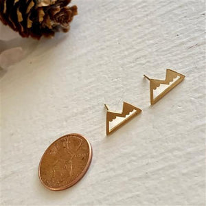 Mountain Range Earrings Gold