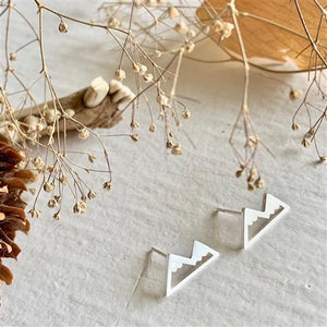Mountain Range Earrings Silver