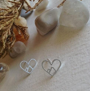Heart Of The Mountains Silver Earrings