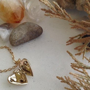 Tiny Heart Shaped Locket - Gold