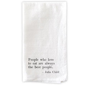 People Who Love To Eat - Set of 4 Napkins