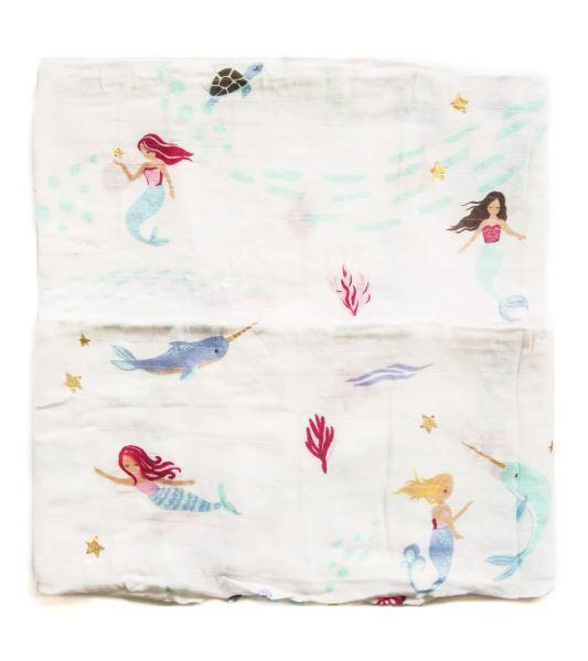 Bamboo Swaddling Blanket - Mermaid