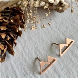 Mountain Range Earrings Rose Gold
