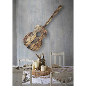Hand Carved Guitar Wall Decor