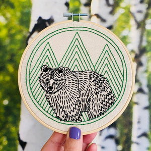 Bear With Me - DIY Embroidery Kit