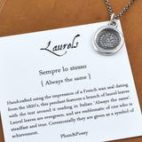 Laurels Wax Seal Pendant