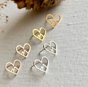 Heart Mountain Rose Gold Earrings