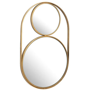 Double Circle Gold Mirror