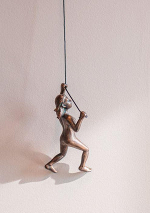 Rock Climbing Woman Wall Decor