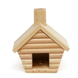 Log Cabin Incense Burner with Balsom Wood Incense