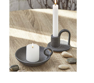 Black Plate Candle Holder