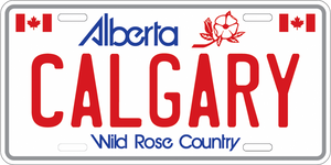 Calgary License Plate Magnet
