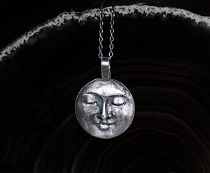 All That Ever Was Silver Moon Necklace