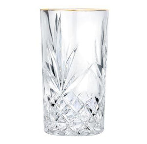Crystal Gold Rimmed Glass - 320 Ml