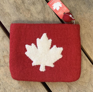 Felt Maple Leaf Pouch
