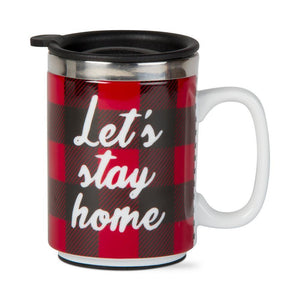 Let's Stay Home Travel Mug