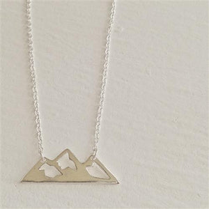 Mountain Silver Necklace