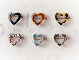 Heart-Shaped Hair Barrettes