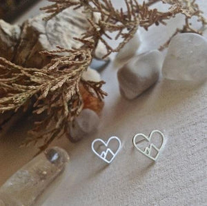 Heart Of The Mountains Stud Earrings