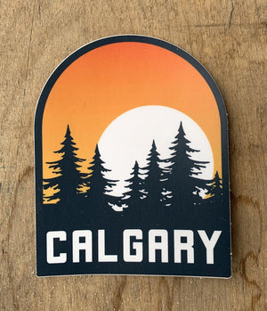 Calgary Sunset Sticker