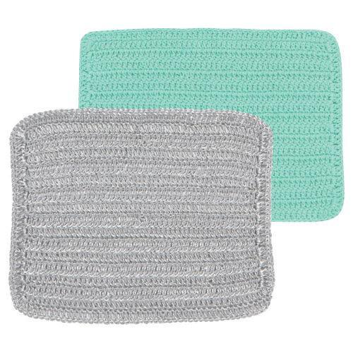 Silver & Green Scrubby Dish Cloth