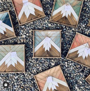 Handmade Mountain Wall Decor - Large