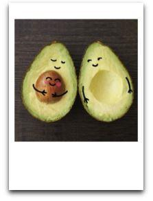 Pregnant Avocado - New Baby Card