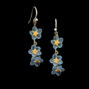 Forget Me Not Triple Flower Earrings