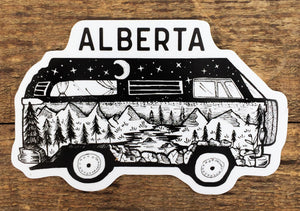 Alberta Van Sticker