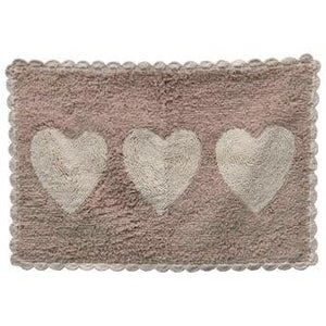 Heart Tufted Bath Mat
